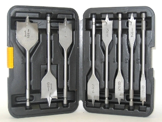 8 piece Spade Bit Set - Aggressive  Cut