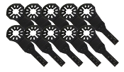 "3/8"" x 1-1/8"" Universal BiMetal Plunge Cut Oscillating Blade - 10 Pack. Replacement for Fein, Bosch, Dremel, Craftsman, Makita and Ridgid"