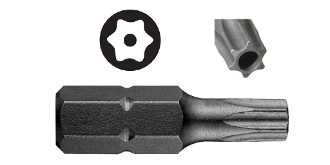 "T10 Tamperproof Torx Security Bit - 1""L - 5 pack"